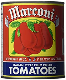 Marconi Plum Peeled Tomatoes, 28 Ounce (Pack of 12)