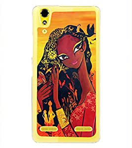 Village Girl 2D Hard Polycarbonate Designer Back Case Cover for Lenovo A6000 Plus :: Lenovo A6000+ :: Lenovo A6000