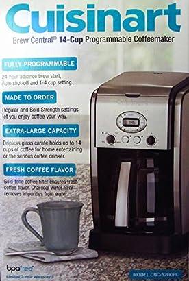 Cuisinart 14 Cup Coffeemaker Machine Brew Central Programmable Cbc 5200pc Rbnccdsr 32