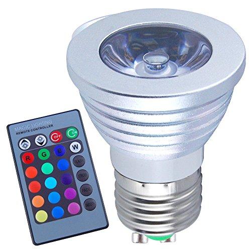 How Nice E27 3W Led Bulb Rgb Color Changing Light Spotlight + Ir Remote Control