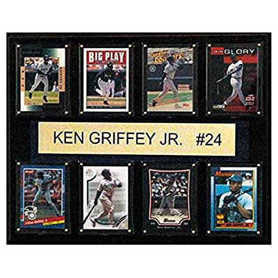 C and I Collectables MLB 15W x 12H in. Ken Griffey Jr. Seattle Mariners 8 Card Plaque