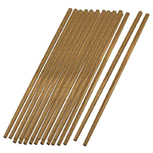 10 Pairs Square Top Brown Wooden Chinese Chopsticks Tableware 9.5 by Amico