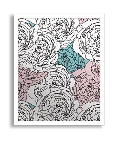 Gallery Direct Flower Power Print on Mirror, Multi, 20 x 16