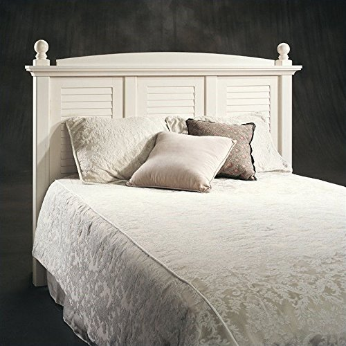 Sauder Harbor View Headboard, Full/Queen, Antiqued White (Antique Full Size Bed compare prices)