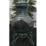 Outdoor-Chimenea-Fireplace-Etruscan-in-Antique-Green-Finish