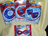 Spiderman Swim Ring & Arm Floats & Beach Ball && Goggles (Sold As a Set)