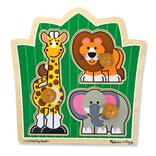 Melissa & Doug - Amigos de la selva, rompecabezas con clavijas grandes (13375)