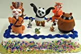 Kung Fu Panda 11 Piece Birthday Cake Topper Set Featuring Master Tigress, Master Monkey, Po, Shifu, Tai Lung, Mayor Pig, Kung Fu Panda Punching Bag, and Other Kung Fu Panda Characters