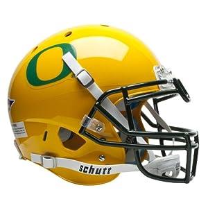 NCAA Oregon Ducks Authentic XP Football Helmet, Gold by Schutt