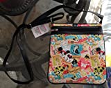 Disney Park Mickey Mouse Collage Pattern Cross Body Purse NEW