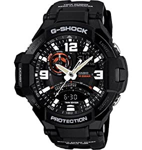 Men's G-Shock GA-1000-1A Resin Black/Black Watch