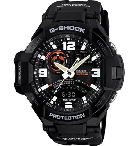G-Shock GA-1000-1A Aviation Series Men's Luxury Watch - Black / One Size