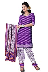 Riddhi Dresses Women's Cotton Unstitched Dress Material (Riddhi Dresses 98_Multi Coloured_Free Size)