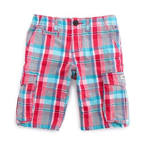 Tommy Hilfiger-Pantaloni corti per bebé bambino, Gonzales Check Cargo multicolore 6 Mesi