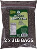 Get Chia Brand BLACK Chia Seeds - 6 TOTAL POUNDS = TWO x 3 Pound Bags