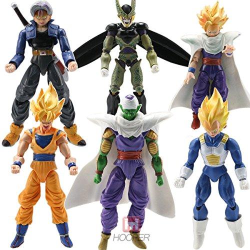 6pcs JP Anime Action Figure Toys Goku Piccolo Set (Cooler Dbz Action Figure compare prices)