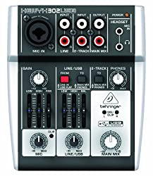 Behringer 302USB Premium 5-Input Mixer with XENYX Mic Preamp and USB/Audio Interface from Behringer