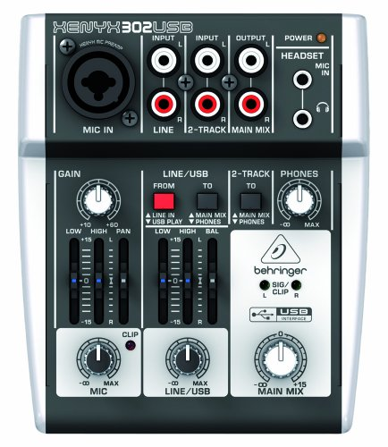 Behringer 302USB Premium 5-Input Mixer  XENYX