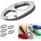Generic 5 Pcs Aluminum Alloy 8-Shaped Screw Lock Locking Clip Hook Key Chain Sports Tool