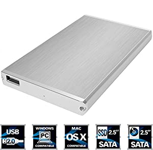 SABRENT 2.5-Inch SATA Aluminum Hard Drive to USB 2.0 Enclosure (EC-US25)