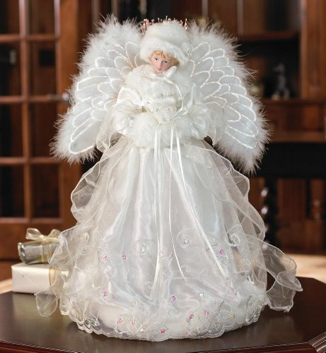 Fiber Optic Angel Christmas Tree Topper By Collections Etc