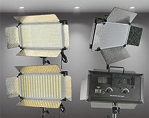 Bi Color 500 LED Light Panel With Dimmer Switch 16V AC DC 110V to 240VLED Video Lighting With V Mount Plate By Fancierstudio 500CHS