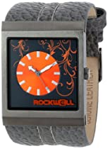 Rockwell Time Unisex MC112 Mercedes Charcoal Leather and Orange Watch