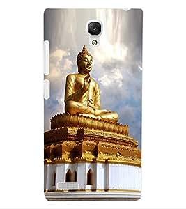 ColourCraft Lord Buddha Design Back Case Cover for XIAOMI REDMI NOTE