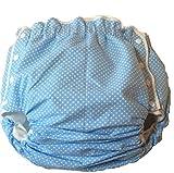 大人用おむつカバースナップタイプ水色水玉柄(介護用)Lサイズ (L)