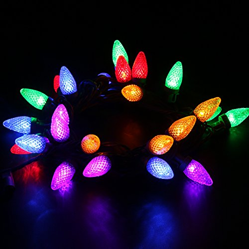 Colored String Lights For Patio : garden lights cheap review: [UL Listed]MAXINDA (TM)Connectable Outdoor String Lights,18 ft 25 ...