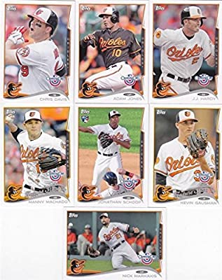 2014 Topps Baltimore Orioles Opening Day Series MLB Baseball 7 Card Team Set with Manny Machado Future Stars Plus