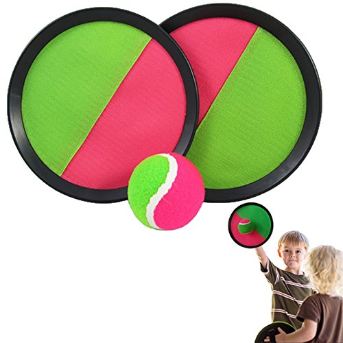 "Dazzling Toys Catch Ball Game Set - Toss and Catch Sports Game Set - 7"" Diameter Disc - 1"
