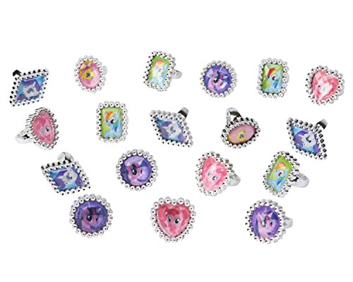 American Greetings My Little Pony Jewel Rings, 18 Count, Party Supplies, Multicolored - 1