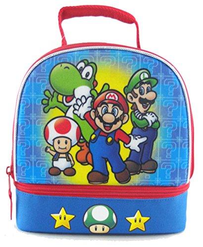 Nintendo Super Mario Dual Lunch Box Kit, Blue