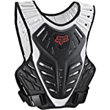 Fox Racing Titan Race Subframe Men's Roost Deflector MX/Off-Road/Dirt Bike Motorcycle Body Armor - Black/Silver / Small/Medium