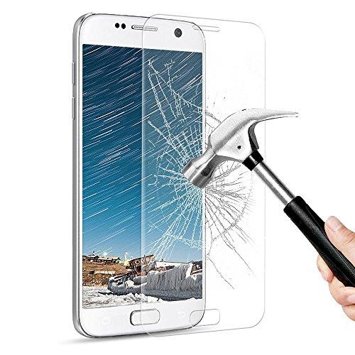 Protection écran SamSung Galaxy S7, Ubegood Galaxy S7 Film Protection en Verre Trempé [Couverture complète] Ultra Clair Dureté 9H Anti-traces Écran de Screen Protection pour Samsung Galaxy S7 - 1 pack
