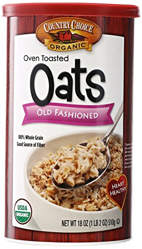 Country Choice Organic Oven Toasted Old Fashioned Oats Canisters - 18 oz (Oven Toasted Oats compare prices)