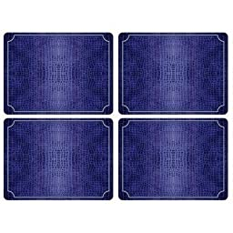 Pimpernel Croc - Blue Placemats - Set of 4 (Large) by Pimpernel