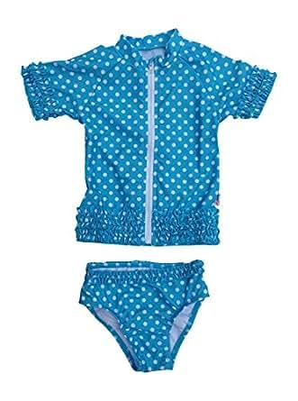 SwimZip Little Girl Sassy Surfer Rash Guard Swimsuit Set