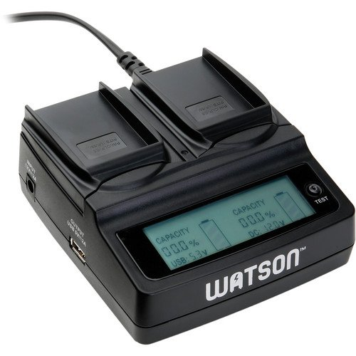 Watson Duo Lcd Charger With 2 Lp-E8 Battery Plates - For Canon Lp-E8 Type Battery