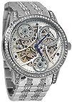 GUESS Womens U25004L1 Elegant Automatic Silver-Tone Watch