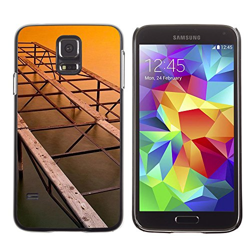 Qcase Slim Pc / Aluminium Sleek Case Cover Armor Shell -- Architecture Old Bridge -- Samsung Galaxy S5