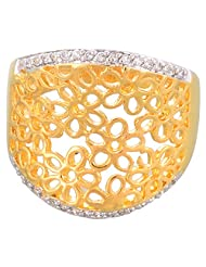 Creation Jewellery Gold Rodium Plated Gold Plated Clip-On Ring For Women - B00Z9URVRG