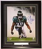 Brian Dawkins Signed & Framed Philadelphia Eagles 16x20 Smoke Photo JSA
