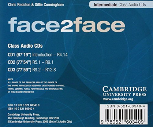 face2face Intermediate Class CDs