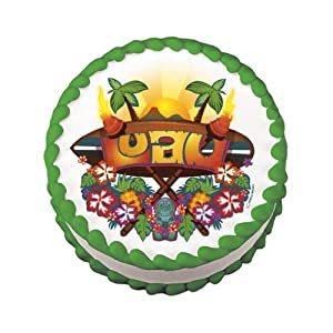 Click to buy Edible Tropical Luau Cake Decal (1 pc)from Amazon!