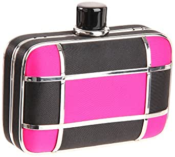 Prezzo Women's 9906 Clutch,Black/Fuschia,One Size
