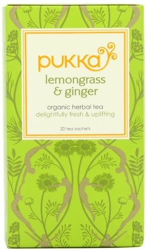Pukka Herbs Organic Lemongrass and Ginger Tea - Pack of 20 Sachets