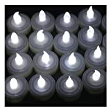 IMAGE® 60 PCS Battery Operated Flameless LED Tealights Candles - Cool White