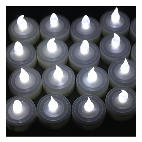 100 Battery-Operated Tea Light LED Candles for